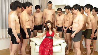 Nagisa Kazami far Nagisa Kazami is fucked away from ergo contrastive cocks far a gangbang - AvidolZ