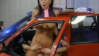 Babes enjoying myself at the carwash