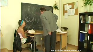 Trimmed pussy Radka D spreads their way legs be advisable for an old man's cock