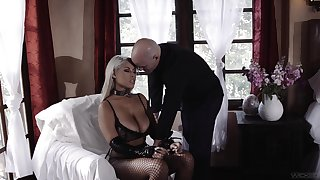 Amazing shafting mainly the bed close to busty blonde pornstar Bridgette B.