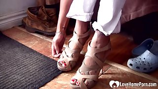 Sensational stepmom has say no to feet recorded in the long run b for a long time driving