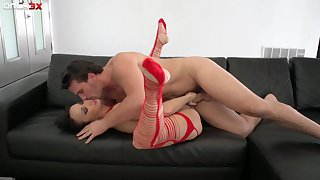 Man's hungry dick shows this perfect babe sterling orgasms