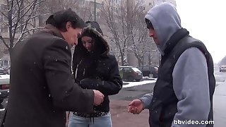 Kinky amateurs reverence having with an eye to dealings with strangers - compilation