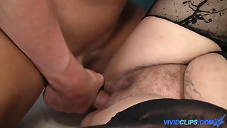 Horny BBW rides cock like a cowgirl