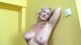 Mature dilettante Monika Wipper wanted anal sex with a black dick