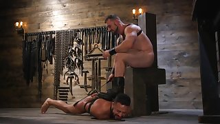 Gay lovers in scenes be useful to brutal BDSM anal