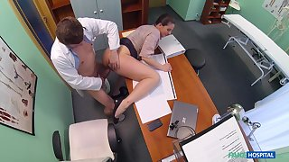 Falsify fucks hot patient and cums in her ass