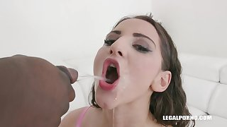 Nicolette Noir is a fuckable woman who likes interracial DP and a nice golden shower