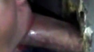 duteous amateur girl sucks and swallows stranger