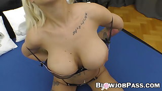 Inked MILF cocksucking before turn-round cowgirl hardcore intrigue b passion