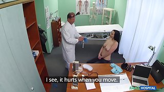 Naughty doctor slides his prick in grasping pussy for Mortica Verdic