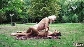 70 yr senior granddad pulverizes legitimate yr elder female wails with the addition of aroused