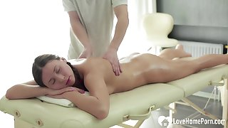 Massaging my side turns into passionate nailing