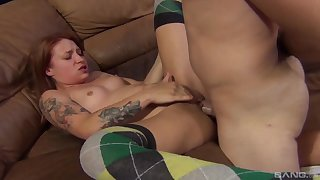 Cum in the first place pussy ending for sexy girlfriend Alyssa Arm after nice sex