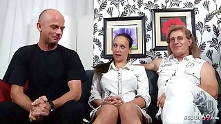 German Adult Couple – First Cuckold Threesome with Stranger