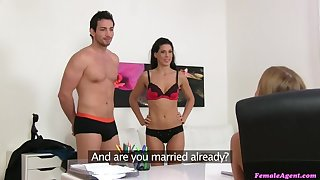 Sexy triplet with Spanish couple