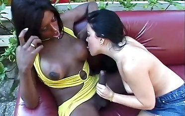 Suzanna Holms is lustful perfidious tranny whose boner is ultimately fellated